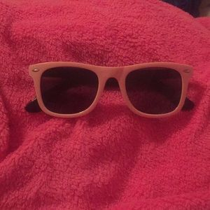 Pink breast cancer support sunglasses
